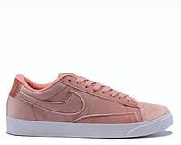 "Женские Кроссовки Nike Blazer Low Surfaces ""Light Lavender Velours""  (Копия ААА+) 36"