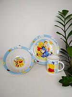 Детский набор керамической посуды с героями мультфильма Винни Пух