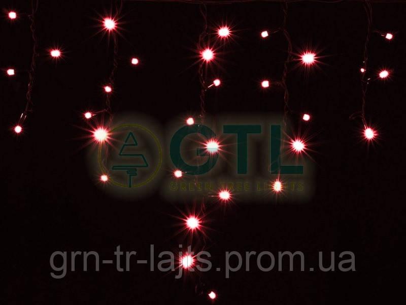 Бахрома (Icicle) белый кабель Красный/Холодный белый 100 диодов 3*0,5м