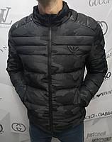 Куртка мужская Emporio Armani D4093 серо-черная