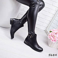 """Ботинки, ботильоны черные """"Furlux"""" эко кожа, повседневная, демисезонная, осенняя, женская обувь, фото 3"""