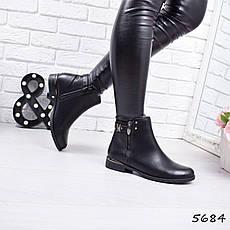 """Ботинки, ботильоны черные """"Furlux"""" эко кожа, повседневная, демисезонная, осенняя, женская обувь, фото 2"""