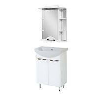 Комплект мебели для ванной комнаты АЛЬВЕУС 60 с умывальником Либра 60