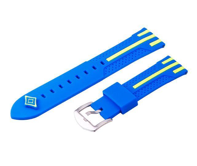 Силіконовий ремінець Dart для Samsung Galaxy Watch 46 mm SM-R800 - Blue&Yellow