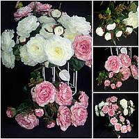 Розы искусственные для интерьера, 11 веточек, выс. 48 см., 165/145 (цена за 1 шт. + 20 гр.)
