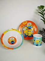 Детский набор керамической посуды Миньоны