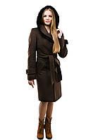 пальто капюшон с норкой