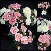 Интерьерный букет роз, разные цвета, 11 веточек, выс. 48 см., 165/145 (цена за 1 шт. + 20 гр.)