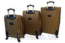 Чемодан Bonro Tourist 4 колеса (средний) золотой, фото 2
