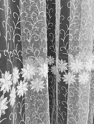 Тюль Кейт Вышивка, Белый (812), фото 2