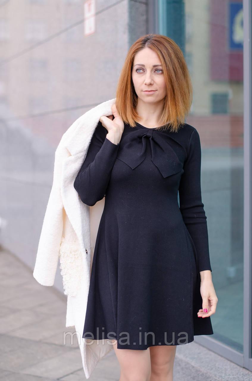 ff67676ad3e Женское черное платье с бантом - Интернет магазин женской одежды Melisa в  Харькове