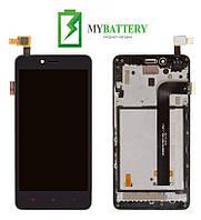 Дисплей (LCD) Xiaomi Redmi Note 2 с сенсором черный + рамка