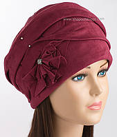 Зимняя шапочка для женщин Дели бордового цвета