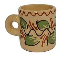 """Чашка """"Кавова"""" 80 мл глиняна (глазурована) в асортименті"""
