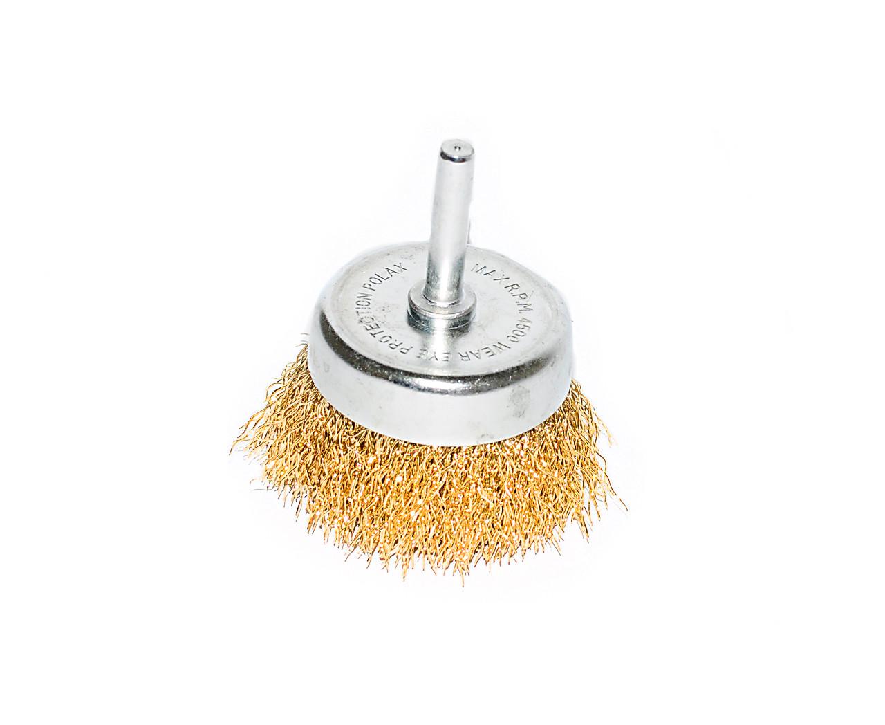 Щітка чашевидних Polax 50 мм для дрилі 1/4 витий дріт (54-171)