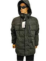 Мужская зимняя куртка Zero Frozen Модель 80099 Хаки со встроенными наушниками