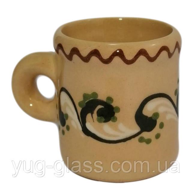Кофейная чашка глиняная 80 мл