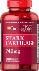 Puritan's Pride Shark Cartilage 740 mg, Акулячий хрящ (200 кап)