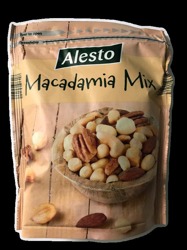 Микс орехов Alesto Macadamia Mix (орех пекан, орех макадамия, миндаль, кешью) 200 г.