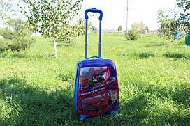 Дитяча валіза на 4 коліщатках Тачки 22 літри