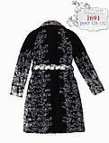 Шерстяное пальто для девочки тм Моне р-ры 128,146, фото 4