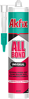 Akfix MS-полимер гибридный клей-герметик ALL BOND Universal белый.