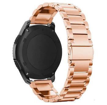 Металевий ремінець Primo для годин Samsung Galaxy Watch 46mm (SM-R800) - Rose Gold