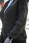 Женская вязаная кофта/кардиган, фото 2