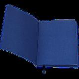 Блокнот деловой BRIEF А5 96л. чистый, иск. кожа, синий, фото 3