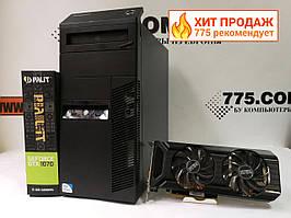 Игровой компьютер Intel Core i7 3.9GHz, RAM 16ГБ, SSD 120ГБ, HDD 500ГБ, GF GTX 1070 8ГБ, гарантия 6мес на ПК