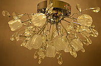 Потолочная люстра на 13 лампочек (галогеновые).хром