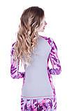 Рашгард женский Totalfit RW1-P23 S сиреневый, розовый, серый, фото 3