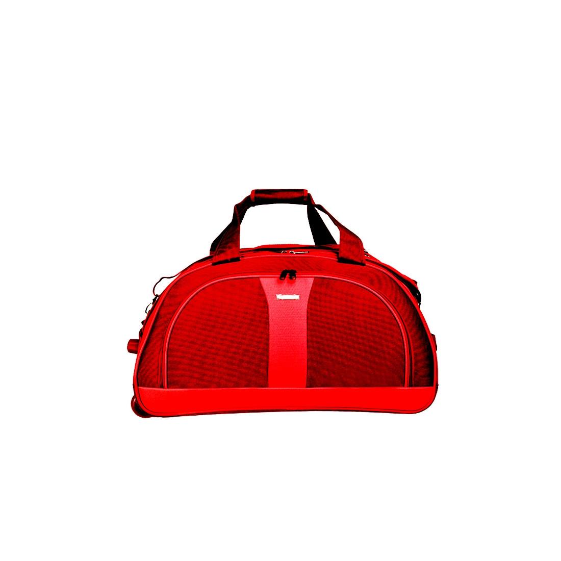 Сумка дорожная на колёсах, бордово-красная MY TRAVEL формованная 50х29х32 см   ксТ400-20бор