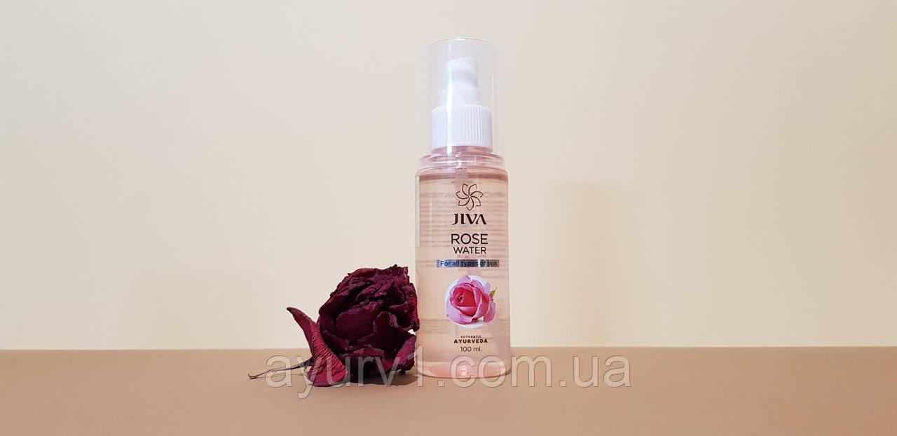 Тоник для лица Розовая вода Джива Аюрведа | Jiva Ayurveda Rose Water / 100 мл