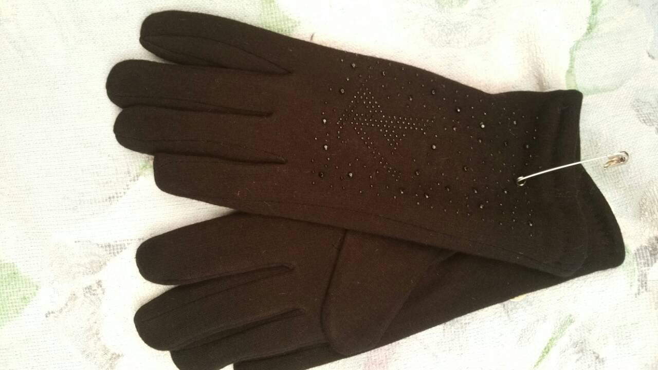 Женские перчатки зимние трикотаж кролик