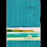 Блокнот деловой COLOR TUNES А5 96л. линия, иск. кожа, бирюзовый, фото 2