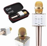 Портативный беспроводной караоке микрофон Q7, bluetooth