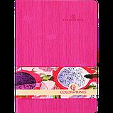 Блокнот ділової COLOR TUNES А5 96арк. лина, позов. шкіра, рожевий, фото 2