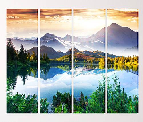"Модульная картина ""Горное озеро"", фото 2"