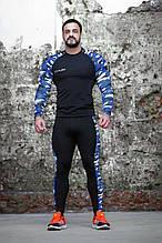 Рашгард мужской Totalfit RM3-P41 3XL черный с синим
