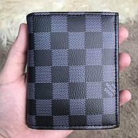 Мужской кошелек/портмоне тройного сложения Louis Vuitton Florin Damier Graphite( реплика), фото 1