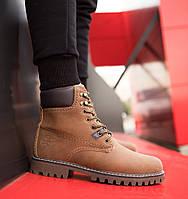 Ботинки мужские зимние в стиле Timberland р.40-45 Коричневый 2ba47c6488b73