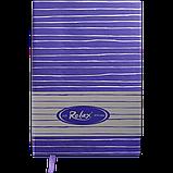 Блокнот деловой RELAX А5 96л. линия, иск. кожа, фиолетовый, фото 2