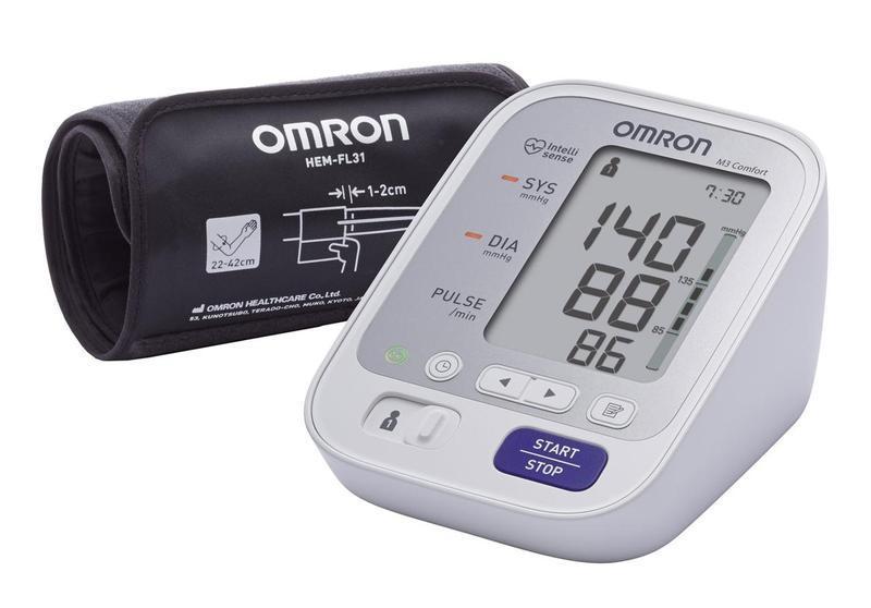 Тонометр автоматичний OMRON M3 Comfort (HEM-7134-E) з манжетою Intelli Wrap + адаптер S
