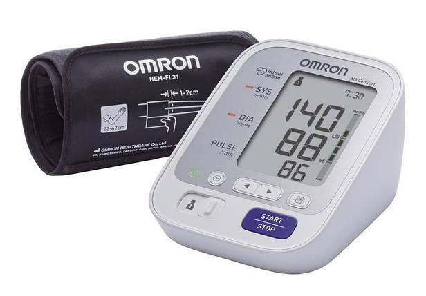 Тонометр автоматичний OMRON M3 Comfort (HEM-7134-E) з манжетою Intelli Wrap + адаптер S, фото 2