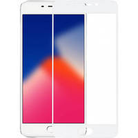 Скло захисне для телефону Meizu M6 Note 5D біле Full Glue 0.3mm