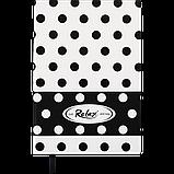 Блокнот деловой RELAX А5 96л. линия, иск. кожа, белый, фото 2