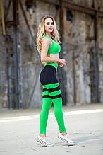 Лосины пчелка леггинсы женские спортивные для фитнеса бега тоталфит Totalfit S-30 S30-C6 зеленый