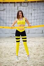 Лосины пчелка леггинсы женские спортивные для фитнеса бега тоталфит Totalfit S-30 S30-C1 желтый