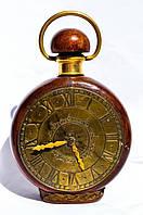 Шикарная бутылка в виде часов! Кожа,латунь! GERMANY!